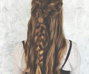 braids, brown hair, and geflochen image