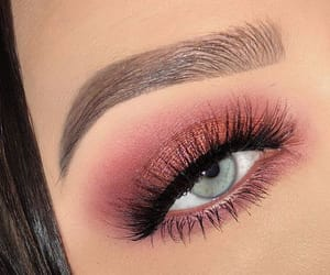 blue eyes, lashes, and brows image