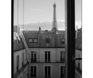 black and white, love, and parís image