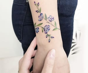 arm, colours, and flowers image