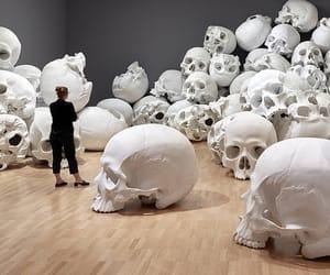 art, museum, and skull image