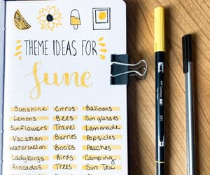 june, summer, and writing image