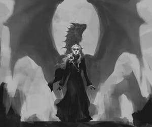 dragon, daenerys targaryen, and mother of dragons image