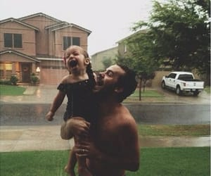 family, love, and rain image