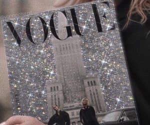 vogue, fashion, and glitter image
