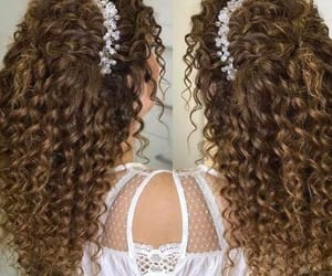 bride, curly, and hairstyle image