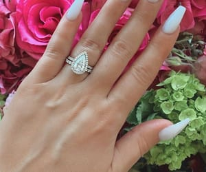 acrylics, flowers, and nails goals image