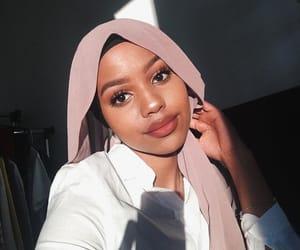 beautiful, hijab, and makeup image