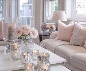 cushions, flowers, and living room image