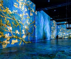 art, blue, and museum image