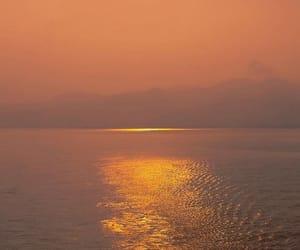 nature, orange, and sea image