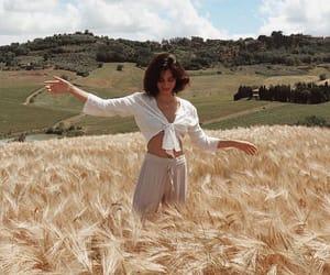 fashion, girl, and nature image