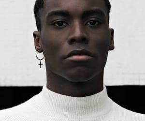 black, earring, and ebony image