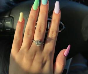 nails, girl, and pastel image