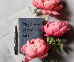 book, flowers, and lovely image