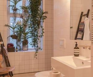 home, plants, and bathroom image