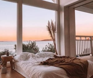 bedroom, house, and ocean image