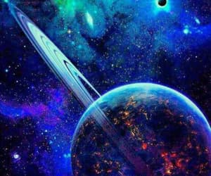 space, galaxy, and planets image