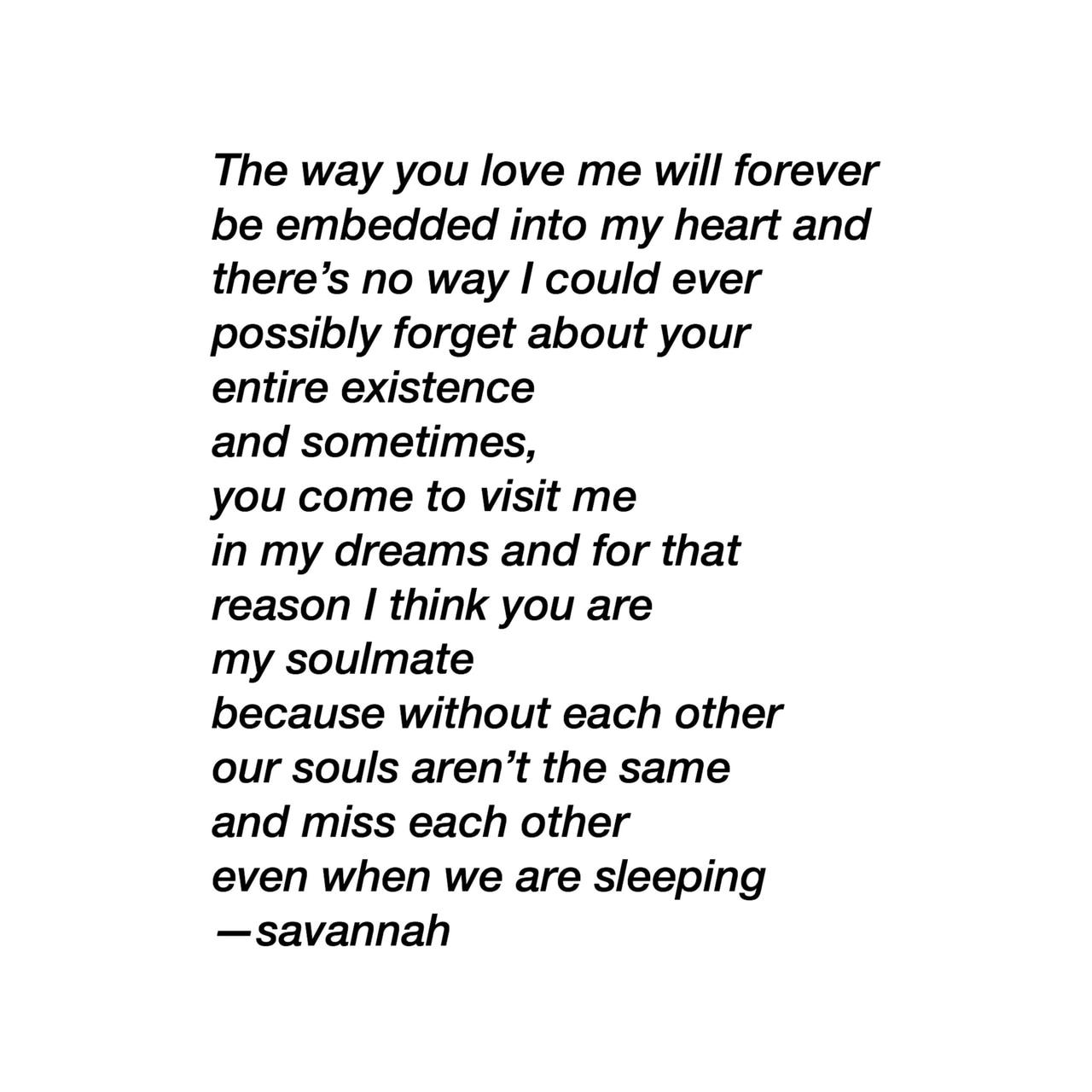 Love my poem forever 'Forever' poems
