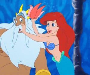 ariel, mermaid, and princesa image
