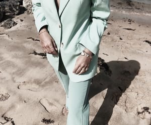 fashion and green suit image