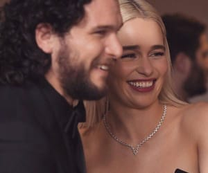 game of thrones, emilia clarke, and kit harington image