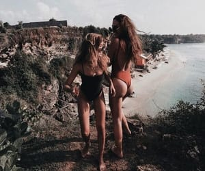 girls, beach, and bff image