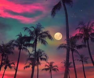 moon, sky, and beach image