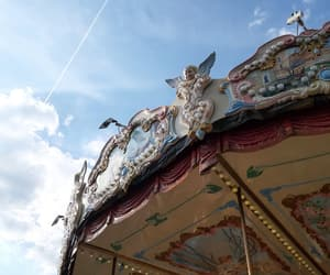 adventure, carousel, and clouds image