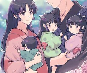 anime, inuyasha, and anime couple image