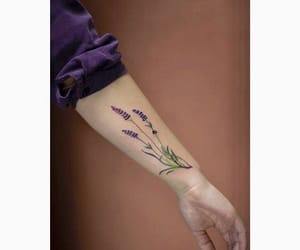 art, lavender, and ink image
