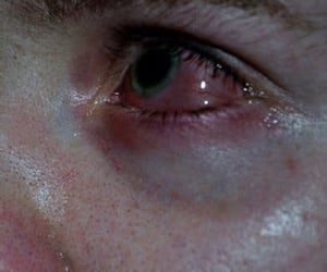 cry, green eyes, and eyes image