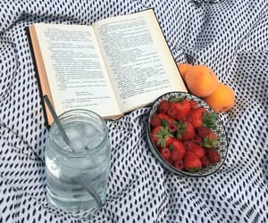 aesthetic, book, and food image