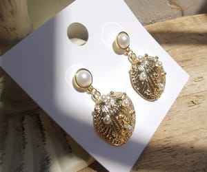 chic, earring, and french image