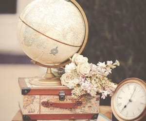vintage, flowers, and travel image