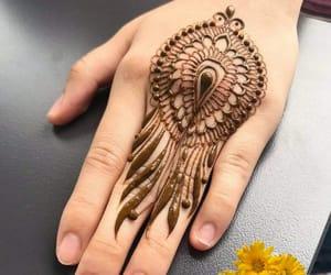 hand, henna, and mehndi image
