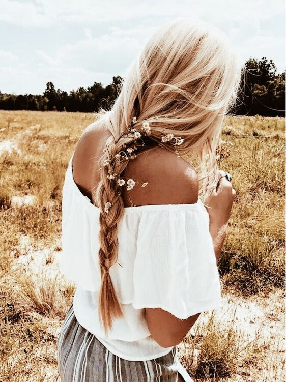 article, braid, and flowers image