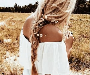 accessories, hairstyles, and dutch braid image
