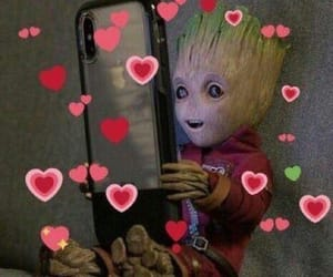 Marvel, groot, and wholesome image