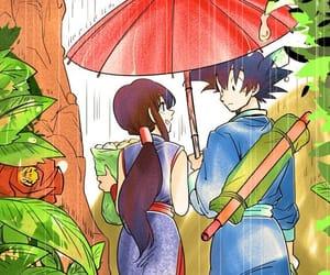 gochi, son goku and chichi, and gochi fanart image