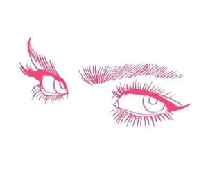 eyes, aesthetic, and pink image