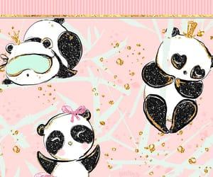cute wallpaper, painting, and panda image