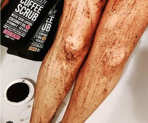 baking soda feet scrub, coffee grounds feet scrub, and epsom salts feet scrub image