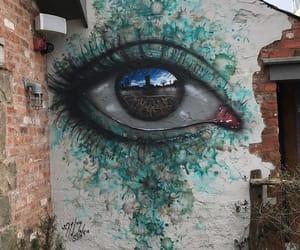 eye, art, and graffiti image