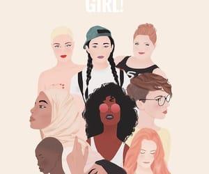 girl, woman, and girl power image