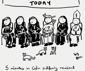 funny, cat, and Catholic image