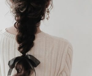 black bow, braids, and hairstyle image