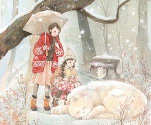 girls, illustration, and wallpaper image
