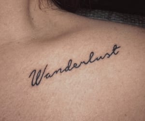 tattoo, wanderlust, and love image
