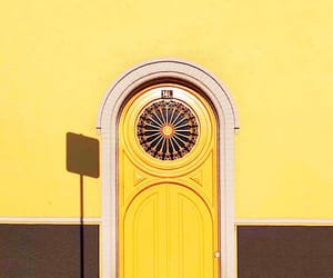 doors, photography, and yellow image